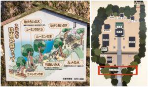 古賀市の五所八幡あおやぎ珍樹の森マップ