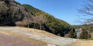 薬王寺水辺公園から見える偕楽荘