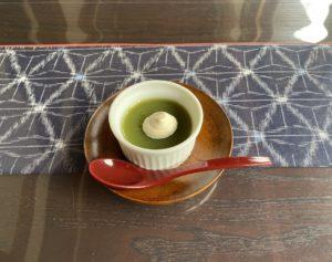福岡県産大麦若葉と本葛デザート