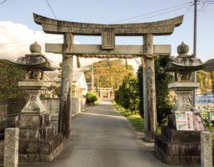 古賀市の五所八幡宮の鳥居