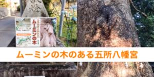 古賀市の観光名所ムーミンの木のある五所八幡宮